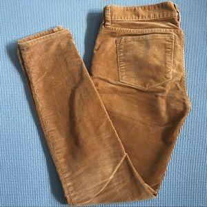 J. Crew corduroy toothpick jeans, size 25